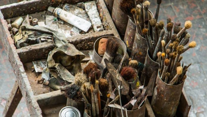 very old artists brushes
