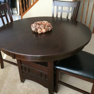 solid wood dining set before getting painted
