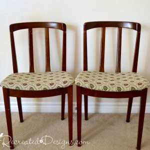 old Art Deco wood chairs