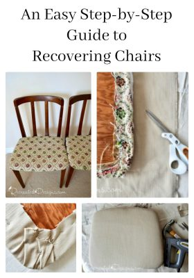 An easy step-by-step guide to recovering dining chairs