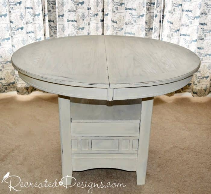 table painted with Homestead House Milk Paint in Limestone