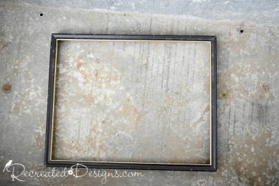 thrift store frame before painting