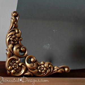 plastic gold vintage mirror corners