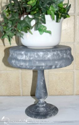 Using Fusion Mineral Paint to paint thrift store finds to look like galvanized metal