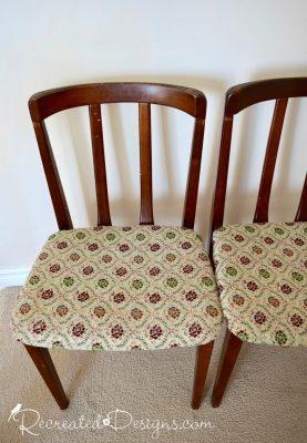Art Deco chairs before refinishing