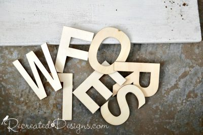 wood letters from Michaels