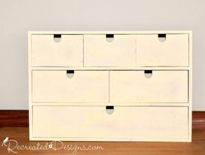 painted IKEA pine storage