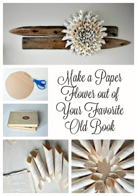 how to make a paper flower out of your favourite old book