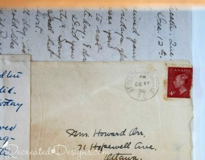 old canadian stamp on an envelope