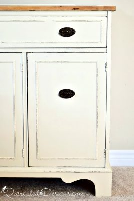 Fusion Mineral Paint in Plaster on a vintage buffet