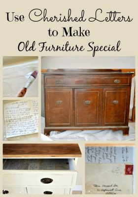 Use old letters to make furniture special with decoupage