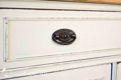 vintage hardware reclaimed for updated sideboard