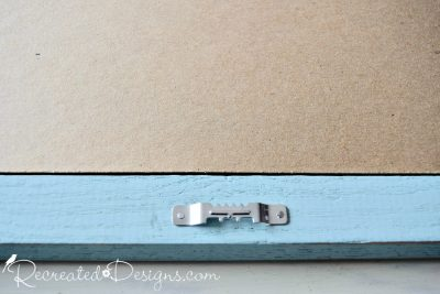 adding hanger to back of painted thrift store frame