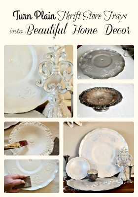 turn thrift store vintage silver plates into beautiful home decor