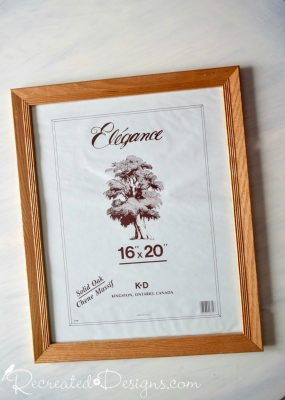 large thrift store oak frame