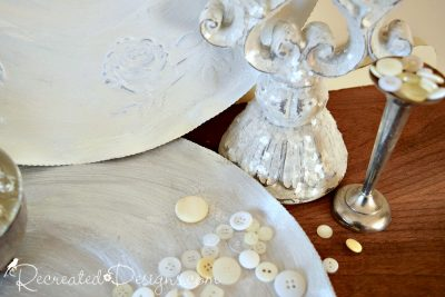 beautiful painted thrift store finds and vintage buttons