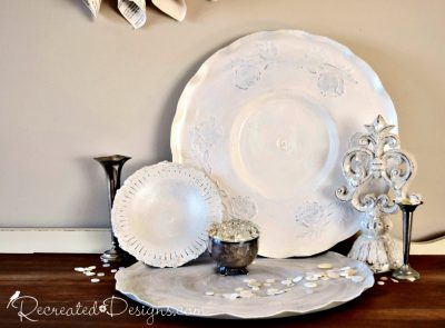 painted trays with Limestone and Pearl from Fusion Mineral Paint