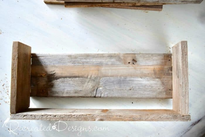 building a wooden shoe rack from pallet wood