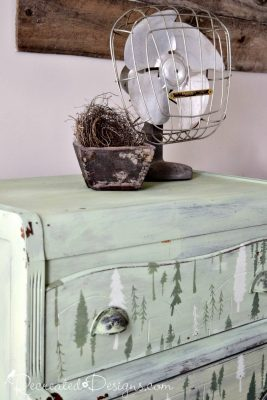 Old dresser painted with milk paint