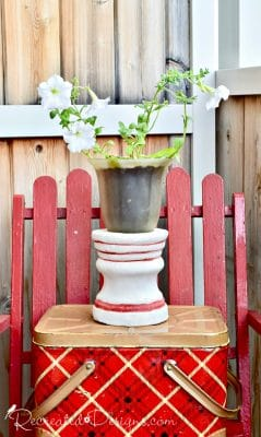 thrift store finds turned summer planter