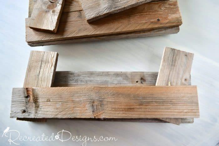 cut pieces of pallet wood