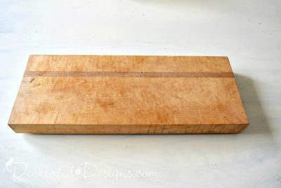 old solid wood butcher block cutting board