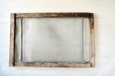 old screen window