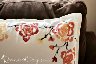 pillow design created using the end of a celery stalk