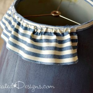 making ruffles with fabric and hot glue