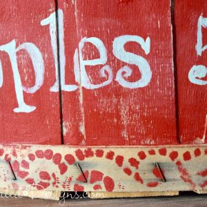 The perfect vintage boarder made with a doily and paint