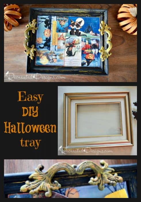 Make an Easy DIY Halloween tray