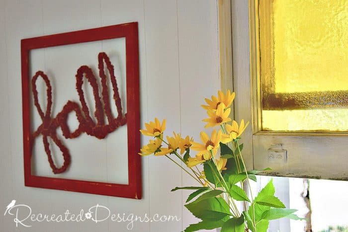 Yellow Fall flowers and word art