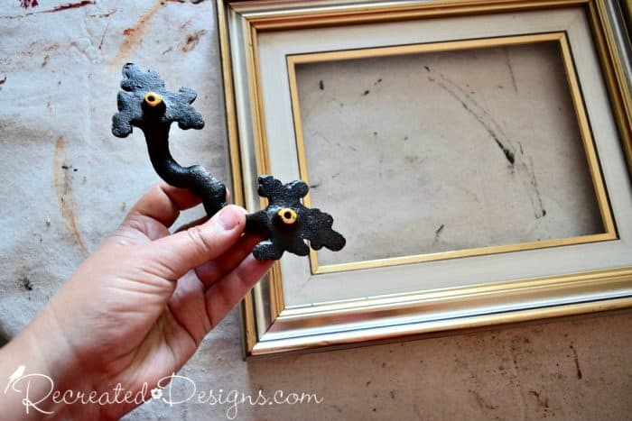 attaching handles to reclaimed frame