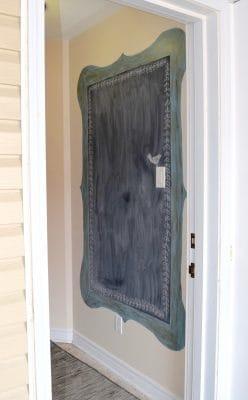 chalkboard painted in entryway