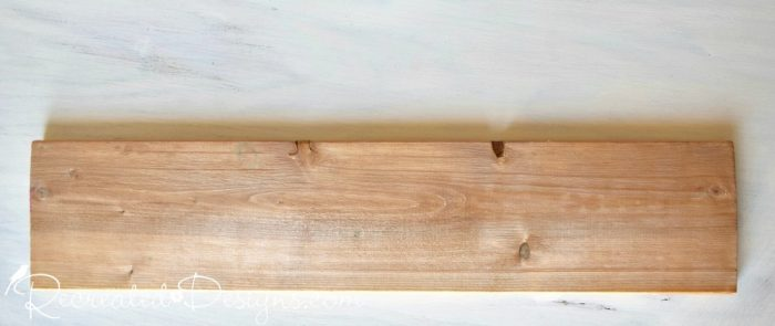 raw wood before making into a DIY Christmas sign