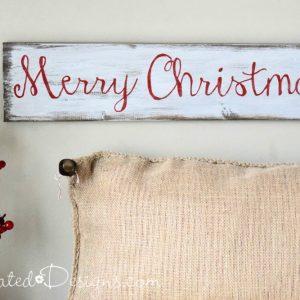 an easy DIY Christmas sign