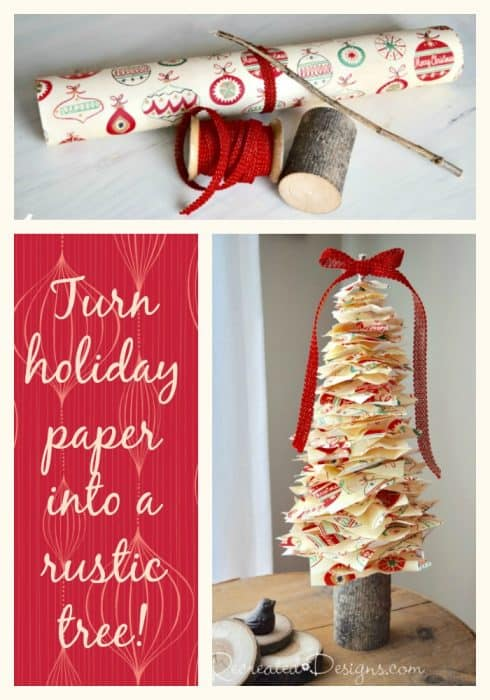 turn your Christmas paper into a Scandinavian inspired tree