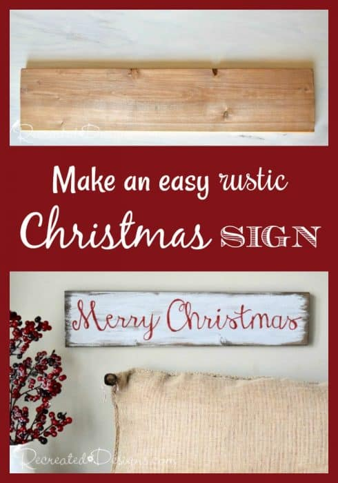 Make a beautiful Christmas sign step-by-step