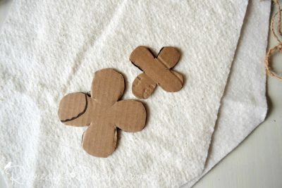 flower cut outs used as a template
