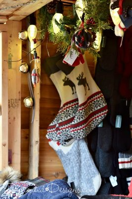 Stocking for sale at German Christmas Market Quebec City, Canada