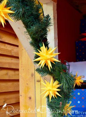paper Christmas stars