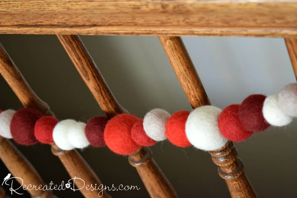 wool garland died natural colours