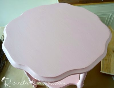 Penny & Co English Rose pint painted flower table
