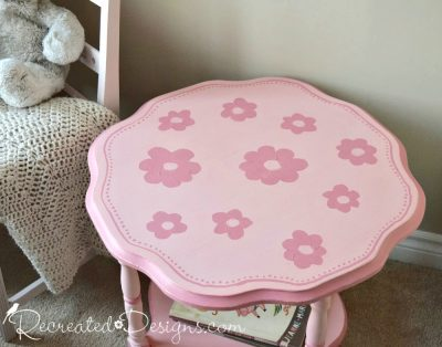 hand painted flowers in shades of pink