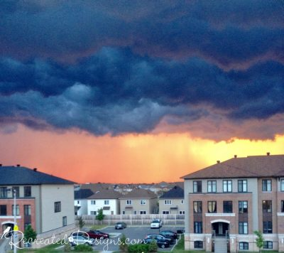 storm about Ottawa, Canada