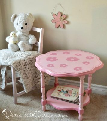 Fusion Mineral Paint Penny & Co English Rose on a vintage flower table