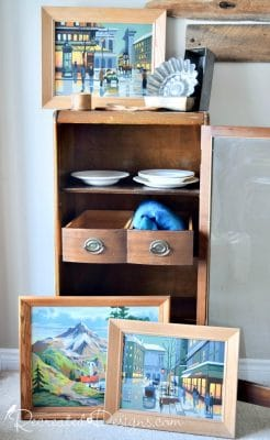 vintage finds including paint by numbers found in the Ottawa valley