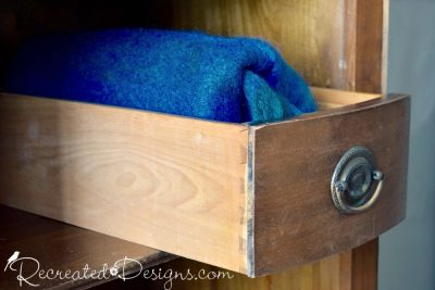 old dovetail wooden drawer