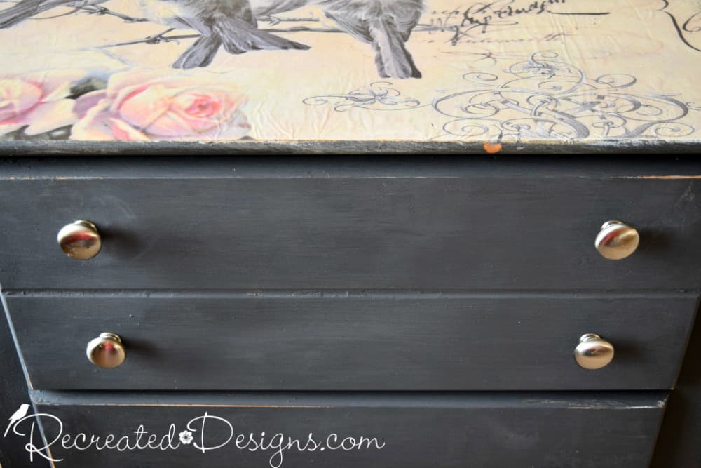 modern silver knobs with bird paper