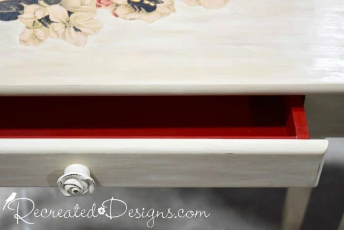 clear wax over Annie Sloan Chalk paint